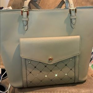 MIchael Kors tote-tan with gold accents